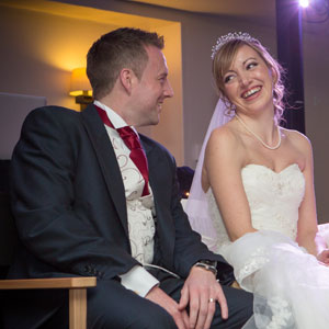 Bride and Groom's Love Story at Warbrook House, Hampshire with DJ Alan Marshall