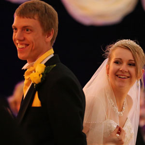 Bride and Groom, Marquee Wedding Hampshire