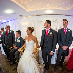 Wedding Party Introductions at Highfield Park, Hampshire