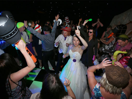 Dancing the night away with Wedding DJ Hampshire, DJ Alan Marshall